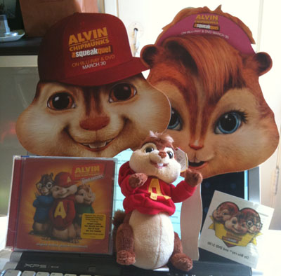 Alvin and the Chipmunks giveaway