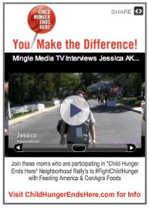 Get the #FightChildHunger widget from http://www.minglemediatv.com