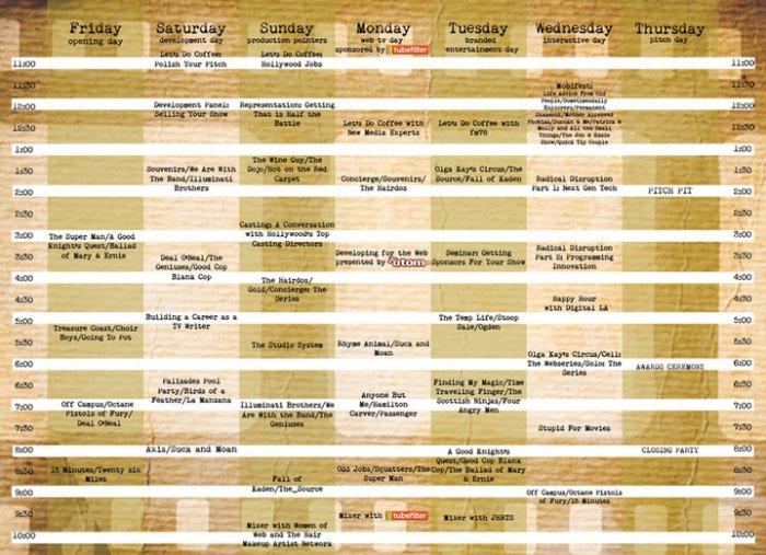 ITVFest Schedule