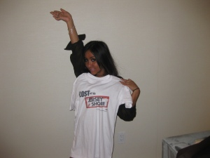 "Snooki Wearing ""LOST on da Jersey Shore"" Web Series Branded T-Shirt"