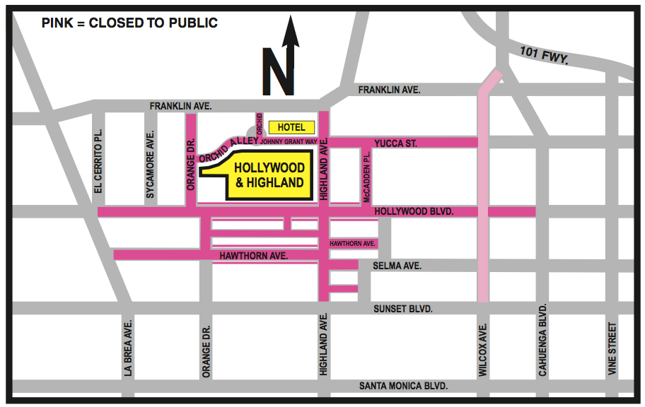 Street Closures for the Oscars