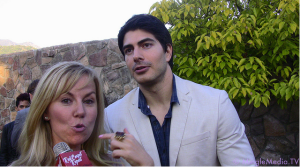 Kristyn Burtt and Brandon Routh at the Saturn Awards Red Carpet