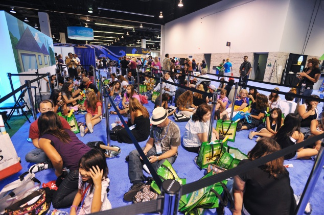 FANS at D23 Friday Waiting in Line for Next Event