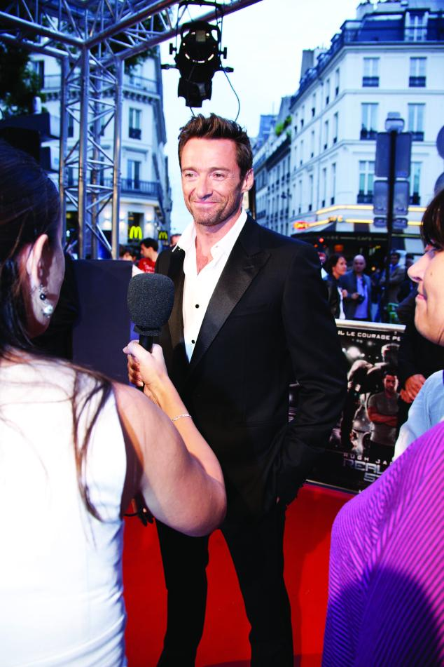 "Hugh Jackman at the Paris Premiere of ""REAL STEEL"""