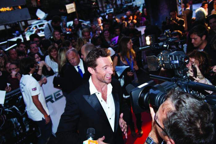 "Hugh Jackman at the Paris Premiere of ""REAL STEEL"""