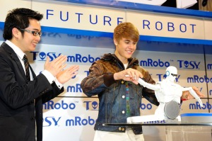 Justin Bieber TOSY Robot Unveiling