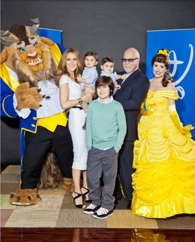 "Céline Dion/""Beauty and the Beast"" 3D Disney's beloved Belle, and the Beast from ""Beauty and the Beast,"