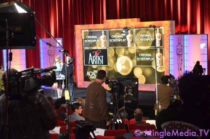 Mingle Media Coverage of 2012 Oscars Nominations