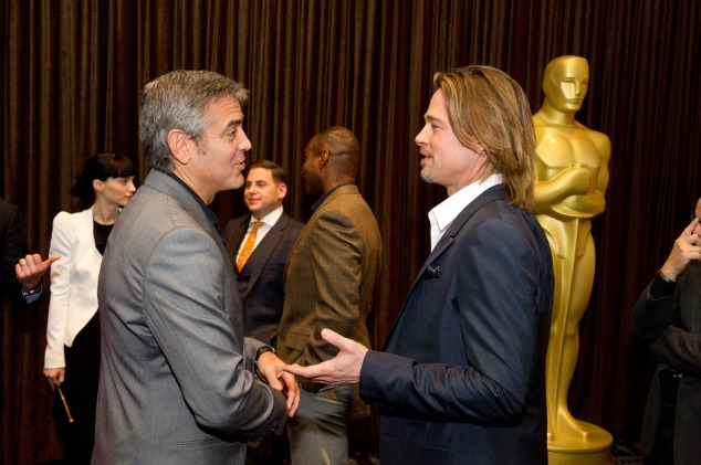 84th Academy Awards, Nominees Luncheon, Brad Pitt and George Clooney