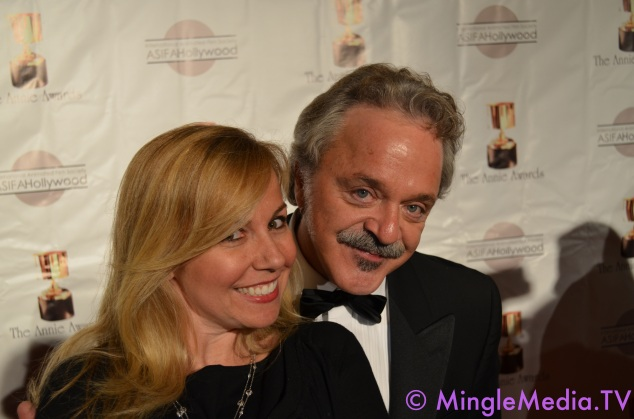 Jim Cummings & Kristyn Burtt on the Red Carpet at the 39th Annie Awards