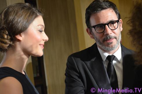 Anne-Sophie Bion & Michel Hazanavicious - The Artist at the ACE Eddie Awards
