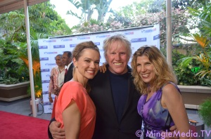 Gary Busey, Steffanie Sampson on the Red Carpet with our host, JJ Snyder