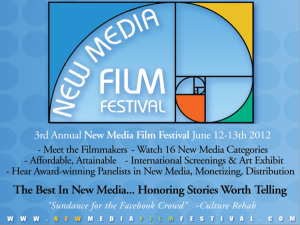 3rd Annual New Media Film Festival