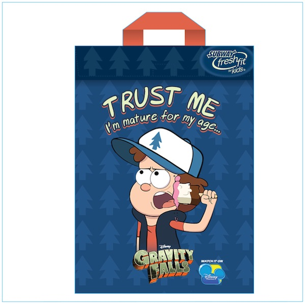 """Gravity Falls"" SUBWAY Fresh Fit for Kids™ Meals™"